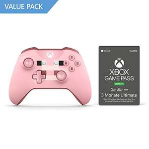 Xbox One S Wireless Controller (Limited Edition Minecraft Pig) + 3 Monate Xbox Game Pass Ultimate (Xbox One/PC) für 38,48€ (Amazon)