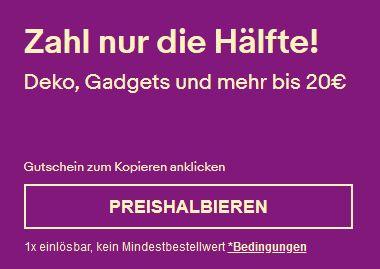 50% auf ausgewählte Produkte unter 20€