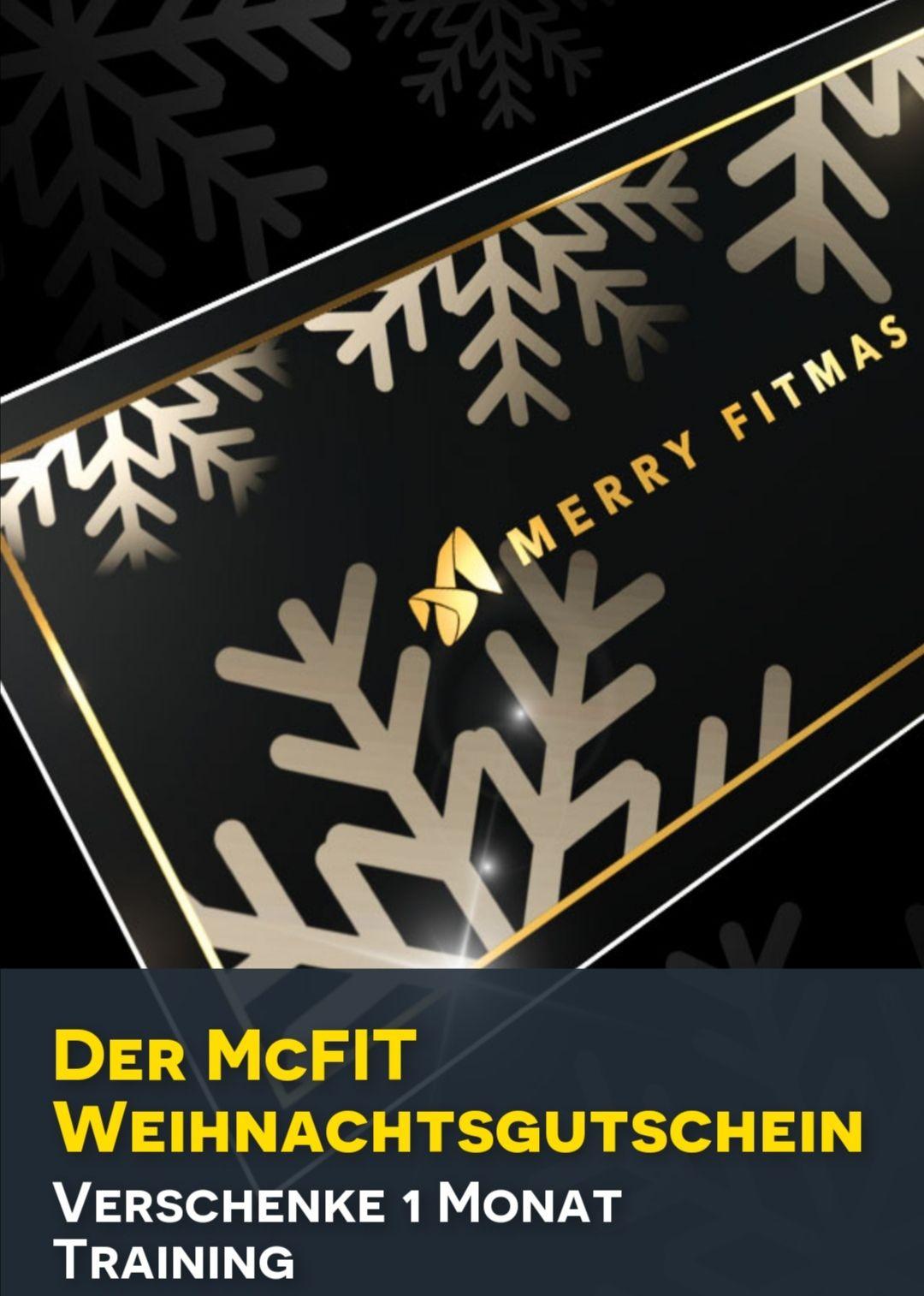 Mcfit Fitness Weihnachtsgutschein - 1 Monat unverbindlich trainieren