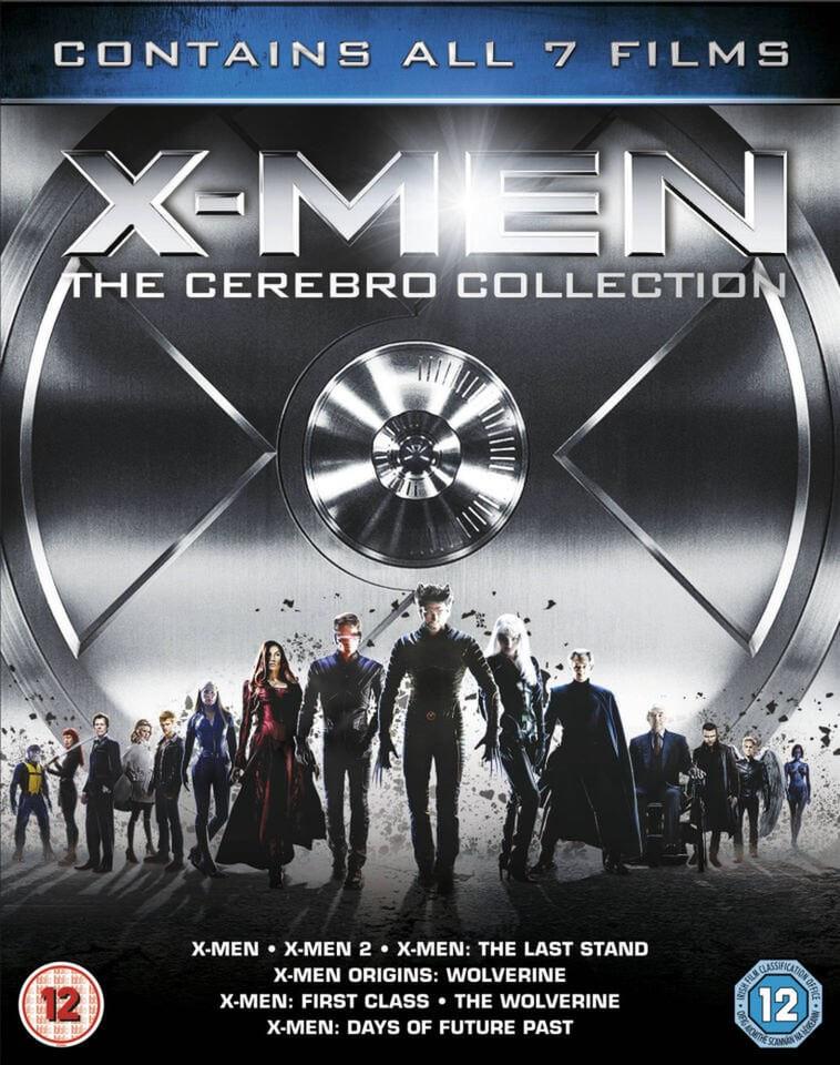 X-Men: The Cerebro Collection mit 7 Filmen (OT) (7x Blu-ray) für 7,01€ (Zavvi)
