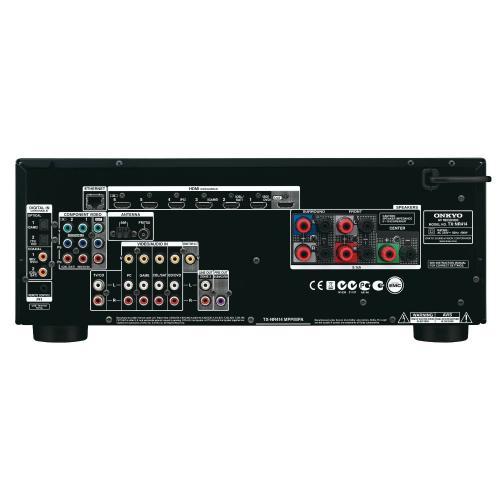 [WHD] Onkyo TX-NR414 AV-Receiver mit Netzwerkunterstützung, USB-Anschluss, Webradio, 3D-Sound, Spotify-Unterstützung, App für iOS und Android, 6 x HDMI (3D)