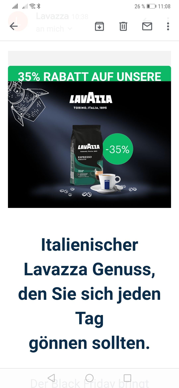 Lavazza Perfetto Espresso ab 20€ VSK frei
