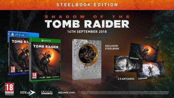 Shadow of the Tomb Raider - Steelbook Edition (PS4) für 17,50€ (Coolshop)