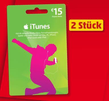 [Penny] 2x 15 EUR iTunes Karten für 25 EUR diese Woche Freitag/Samstag