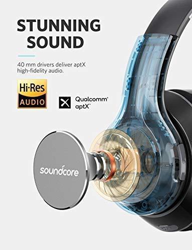 [Amazon] Anker Soundcore Vortex Bluetooth Kopfhörer von Anker, Over-Ear Kopfhörer, 20 Stunden Akkulaufzeit, Bluetooth 4.1