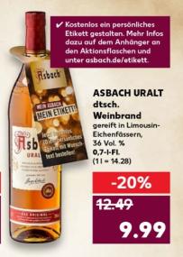 [Kaufland Südhessen] Asbach Uralt 0.7l