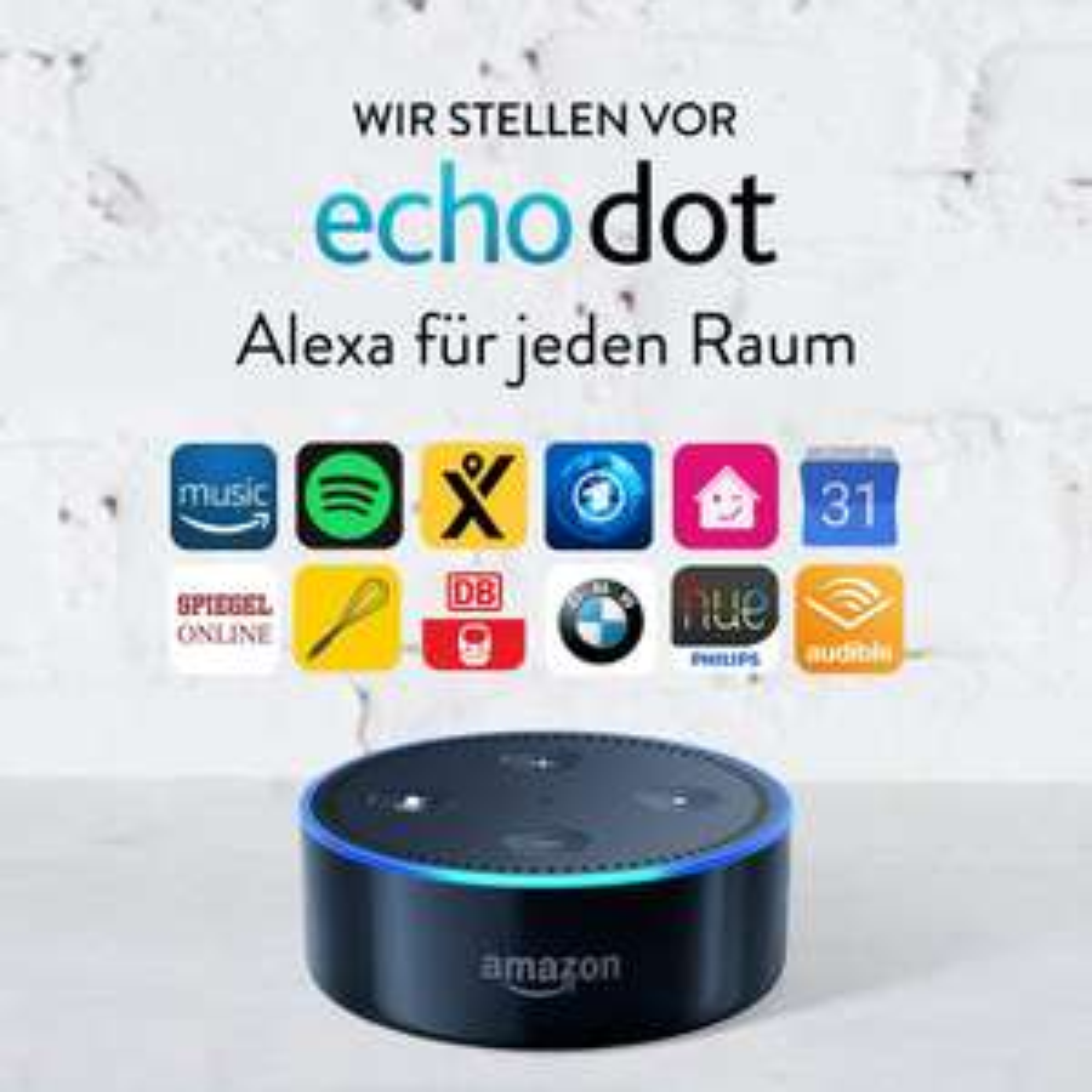 [Amazon] Echo Dot (Vorherige Generation - 2. Gen.), Zertifiziert und generalüberholt, Schwarz
