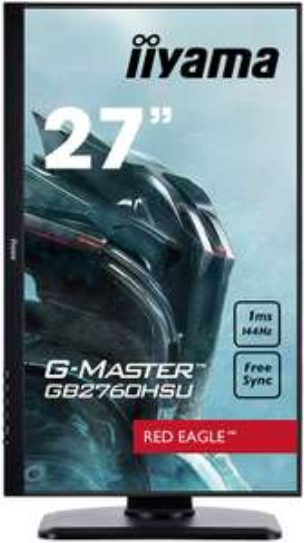 iiyama G-MASTER Red Eagle GB2760HSU-B1 27 Zoll Gaming Monitor Full-HD 144Hz, HDMI, DP, USB 2.0, 1ms, FreeSync, Höhenverstellung, (Warehouse)