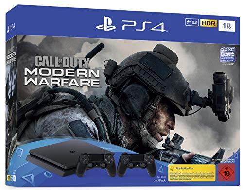 [Otto] PlayStation 4 Slim 1TB, inkl. Call of Duty Modern Warfare + 2. Controller