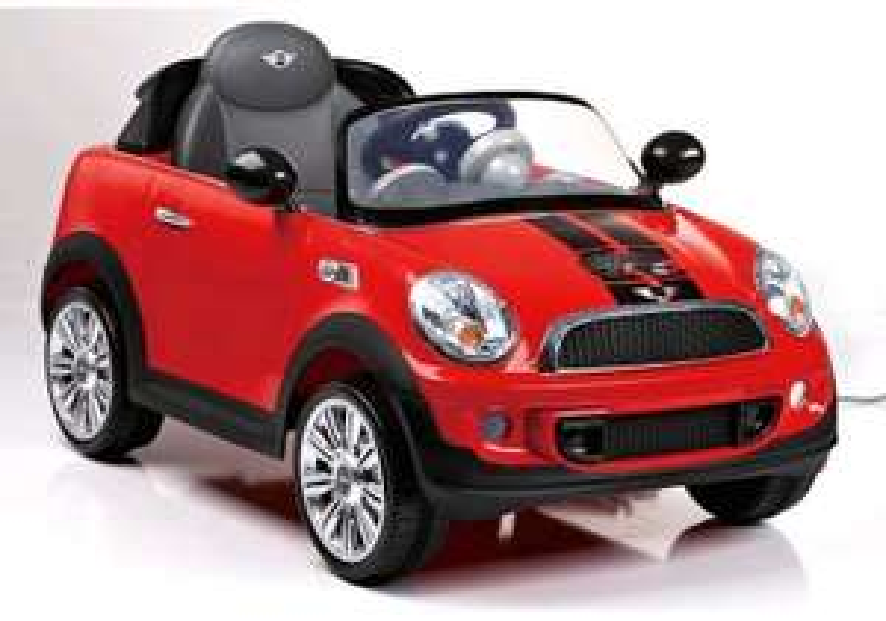 Rollplay Mini Cooper S Coupé rot 12V Kinder Elektroauto für 99€ bei Globus