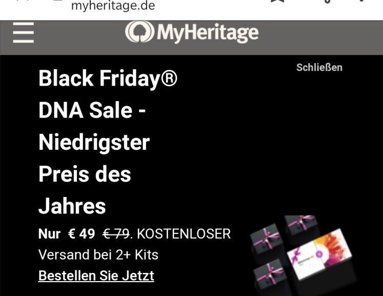 Ahnenforschung: MyHeritage DNA Test für 49€ statt sonst ermäßigt für 59€ (offiziell 79€)