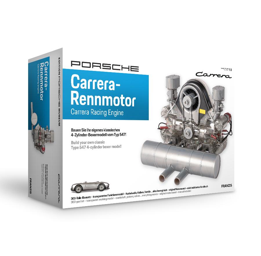 Porsche Carrera-Rennmotor: Funktionsmodell des Vierzylinder-Boxermotors / Maßstab ca. 1:3