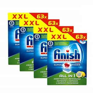 252x Finish All in 1 Citrus Tabs XXL (63 Tabs 4er Pack) für 24,99 Euro
