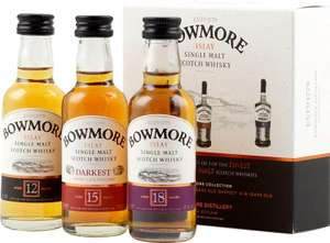[Amazon] Bowmore Whisky Miniaturen-Set 12, 15, 18 Jahre (3 x 0.05 l)