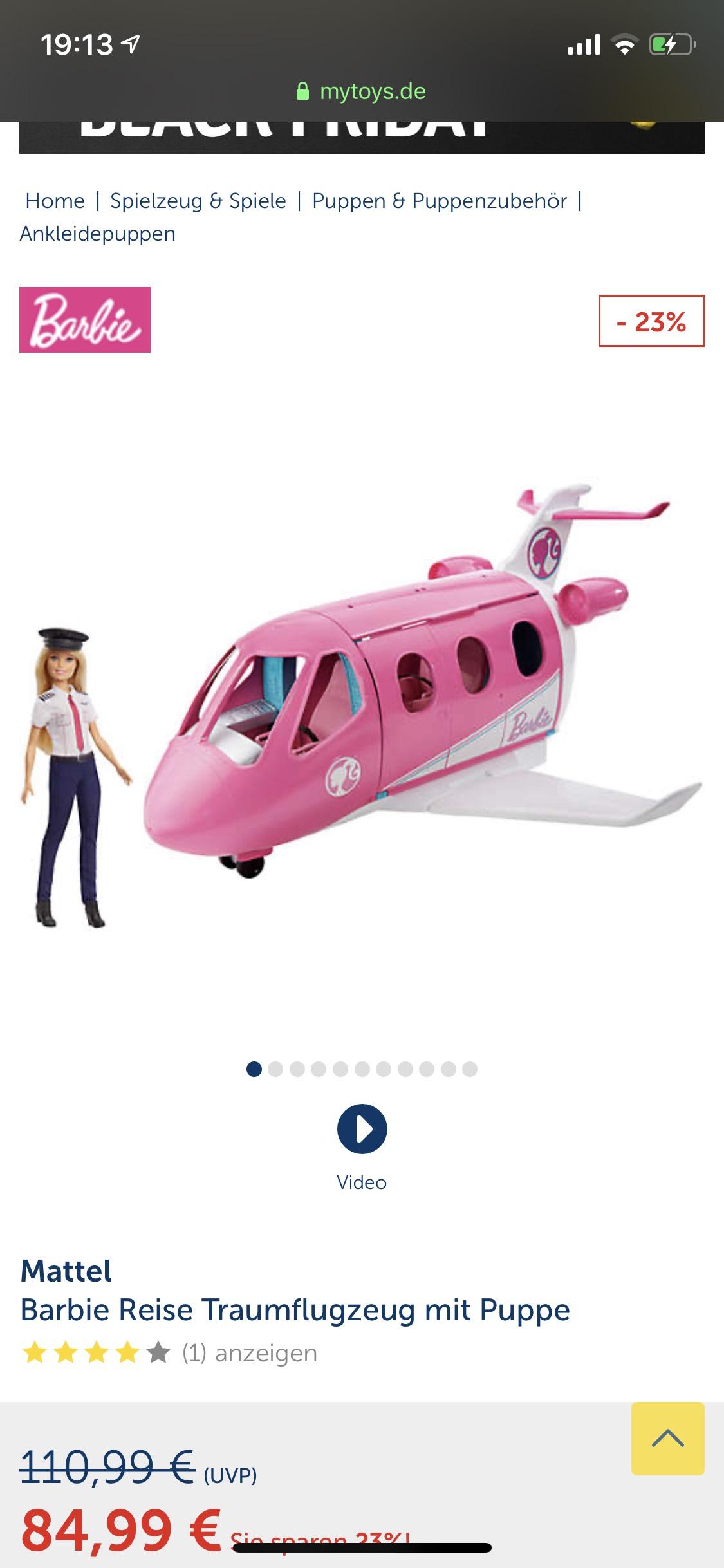 Barbie Reise Traumflugzeug ggf. +2,95€ Versand