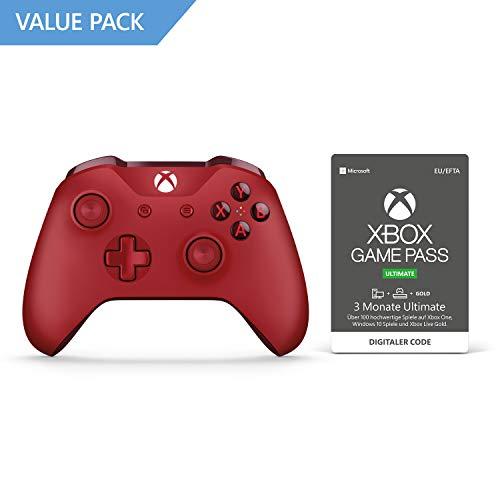 Xbox One S Wireless Controller (Rot, Weiß & Schwarz) + 3 Monate Xbox Game Pass Ultimate (Xbox One/PC) für je 43,48€ (Amazon)