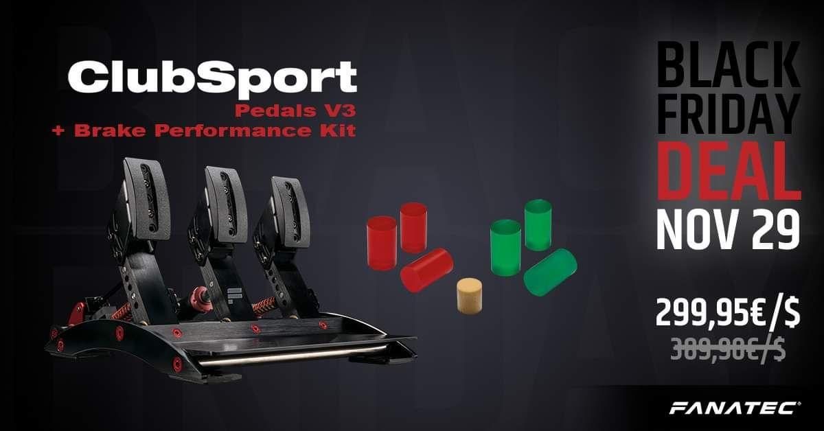 Fanatec V3 Pedale inkl. Brake Performance Kit