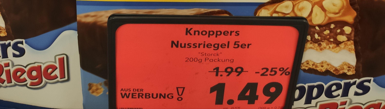 [Lokal Berlin-Gesundbrunnen] Knoppers Nussriegel 5er