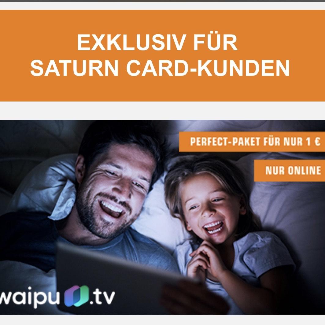 [Saturn & Media Markt - Newsletter] Waipu TV Perfect-Paket für Saturn Card-Kunden