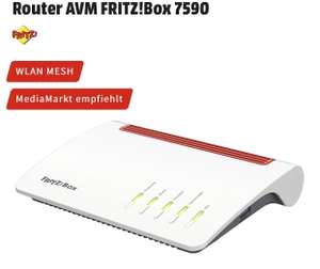 [Lokal Bonn MediaMarkt] AVM Fritzbox 7590 für 179€