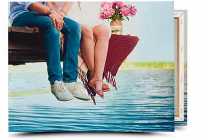 Foto auf Leinwand (100x75 cm, 2cm dick) für 24,80 € inkl. Versand