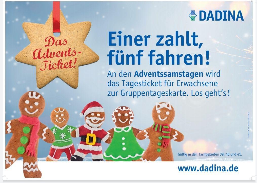 [Darmstadt-Dieburg Kreis] Tageskarte als Gruppentageskarte an Adventssamstage (30.11., 7., 14., 21.12.) [Lokal]