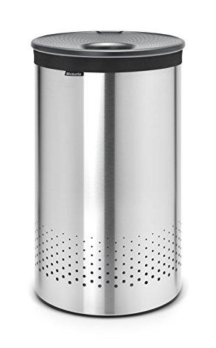 Brabantia 105166 Wäschebox 60 L Kunststoffdeckel Dark Grey, matt steel