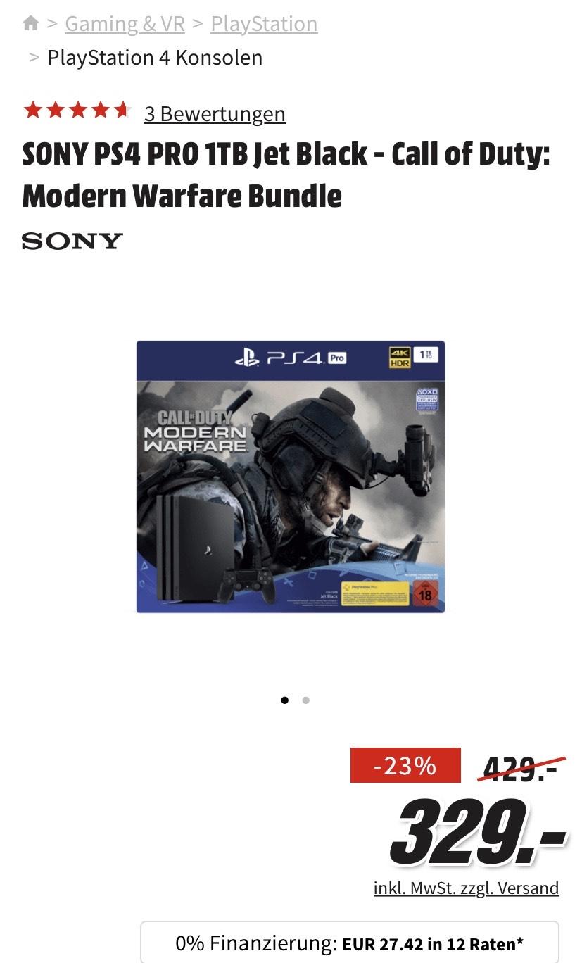 PlayStation 4 Pro 1 TB jet Black