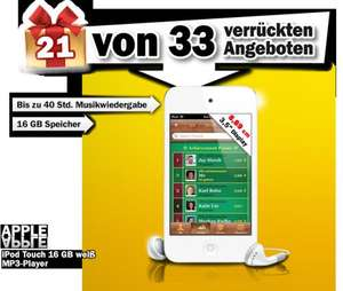 [Online] Apple iPod Touch 16 GB @ Mediamarkt