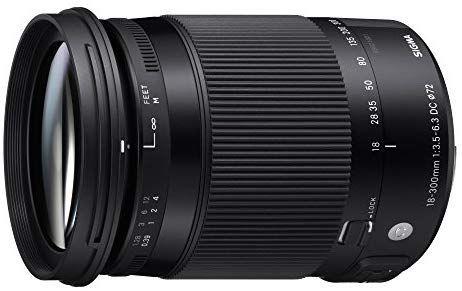 [WHD-wie Neu] Sigma 18-300mm F3,5-6,3 DC Macro OS HSM Contemporary Objektiv (72mm Filtergewinde) für Nikon Objektivbajonett