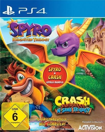 Spyro Reignited Trilogy + Crash Bandicoot N.Sane Trilogy Bundle (PS4) für 24,99€ (Otto)