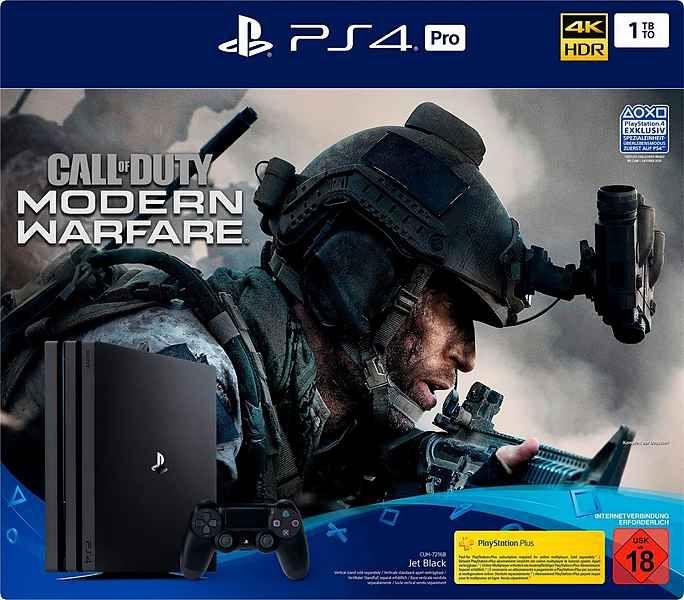 PlayStation 4 Pro (PS4 Pro) 1TB CUH-7216B, inkl. Call of Duty Modern Warfare