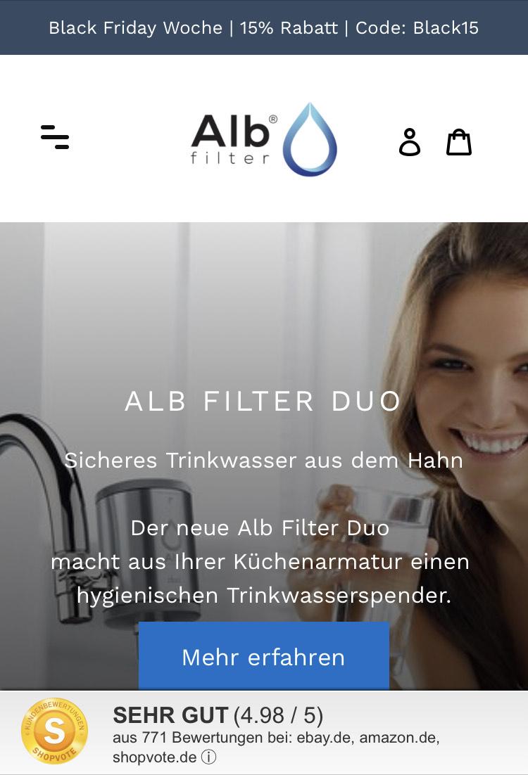 Alb Filter – Wasserfilter für Dusche und Trinkwasser