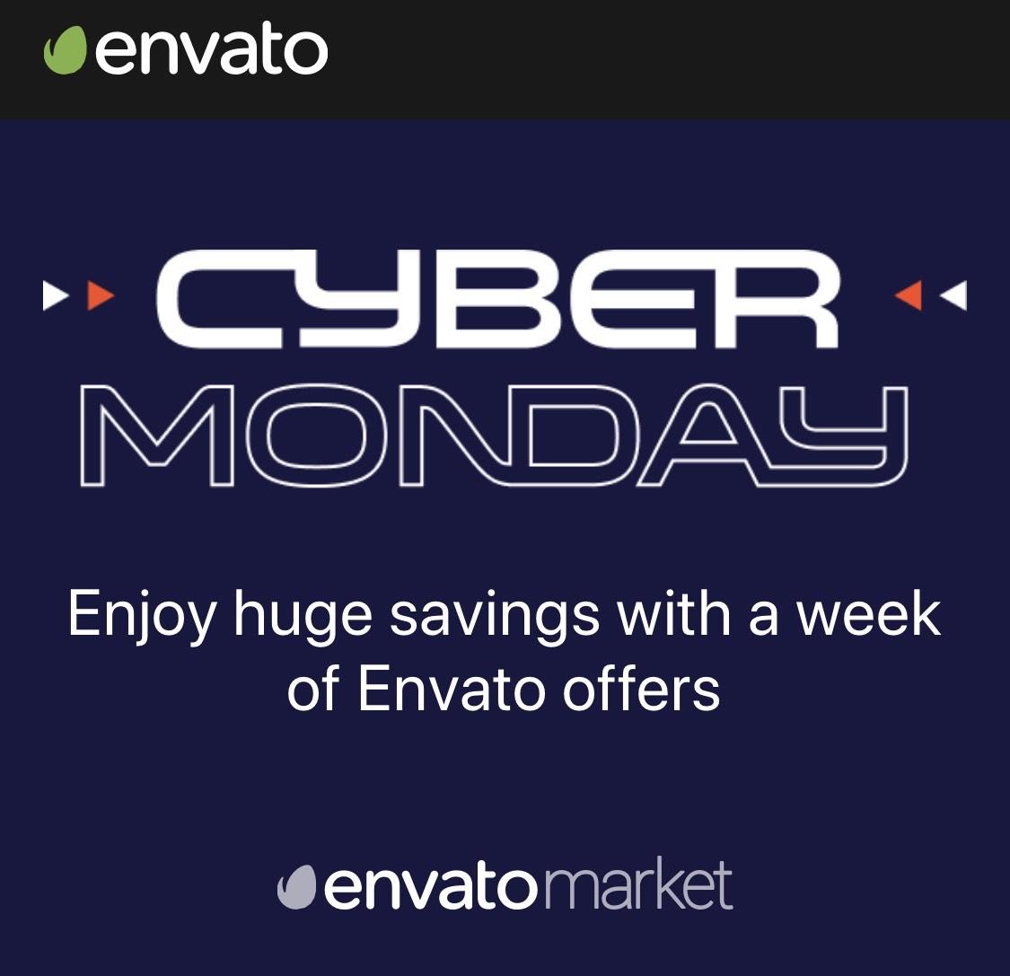 [Envato] Cyber Monday 50% auf ausgewählte WordPress Themes und mehr...