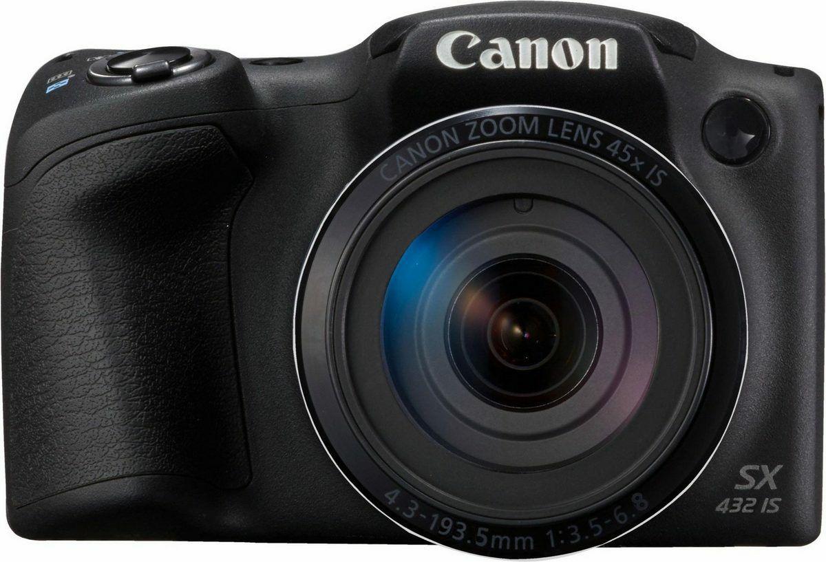 Canon PowerShot SX432 IS Bridge-Kamera (20MP, 45x opt. Zoom, WiFi, NFC, inkl. Tasche)