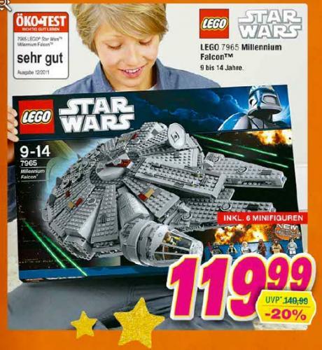 Lego Star Wars Millenium Falcon 7965 für 119,99 € (statt 149,99 €)