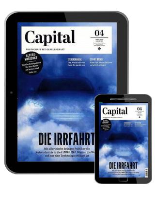 Capital Abo (12 ePaper Ausgaben) für 60 € mit 60 € BestChoice Universalgutschein (Kein Werber nötig)