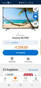 Hisense 43 Zoll 4K Smart TV BE7000 Bestpreis (-14,3%) H43BE7000