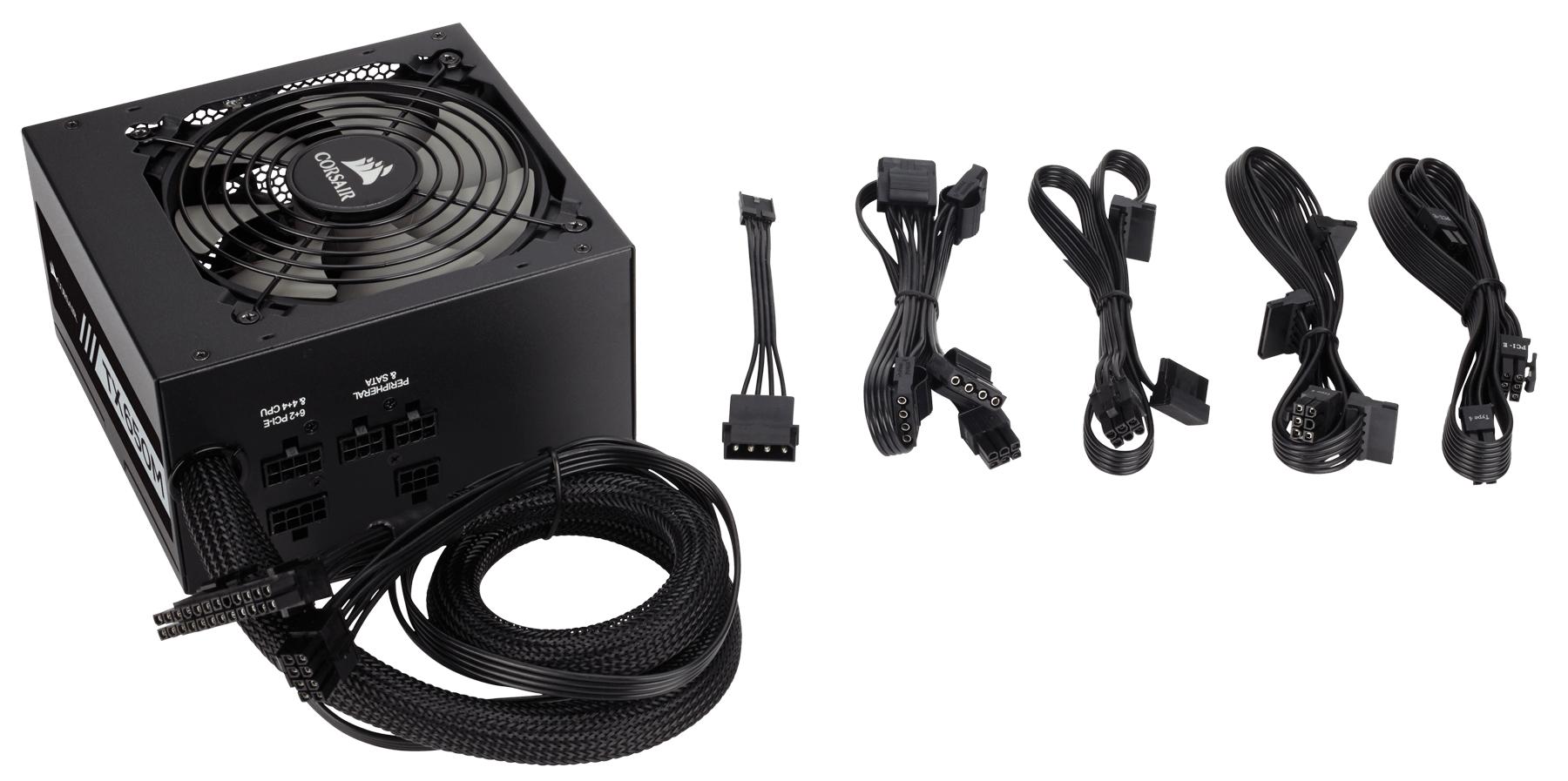 "(paydirekt) Corsair TX650M PC-Netzteil (Teil-Modulares Kabelmanagement, 80 Plus Gold, 650 Watt, EU) Amazon's Choice für ""netzteil"""
