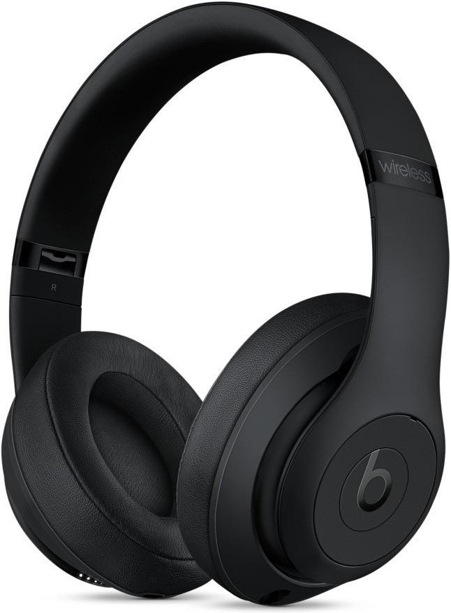 Beats Studio 3 Wireless mattschwarz (Over-Ear, Bluetooth, Klinke optional, aktive Geräuschunterdrückung, ~22h Akku, 260g) + 10% Cashback