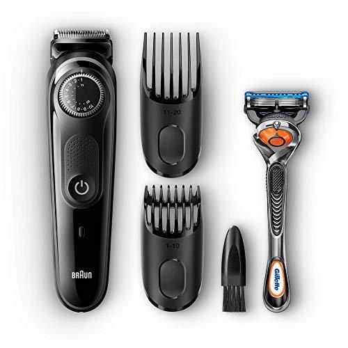 [Amazon] Braun Barttrimmer und Haarschneider BT5042 – Bartpflege Set mit Kammaufsätzen und Gilette ProGlide Rasierer