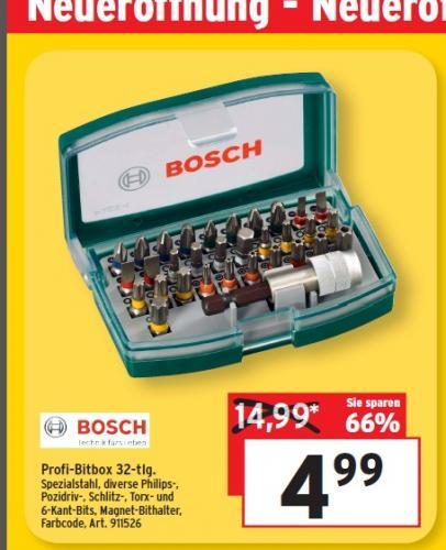 Lokal DD: Bosch Bit Satz 32tlg (der Klassiker)