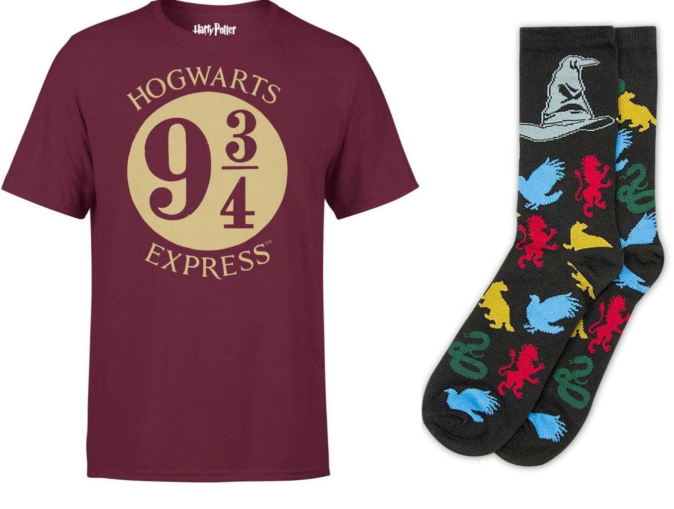 2 Paar Harry Potter Socken gratis beim Kaufen eines T-Shirts (Damen / Herren / Kinder)