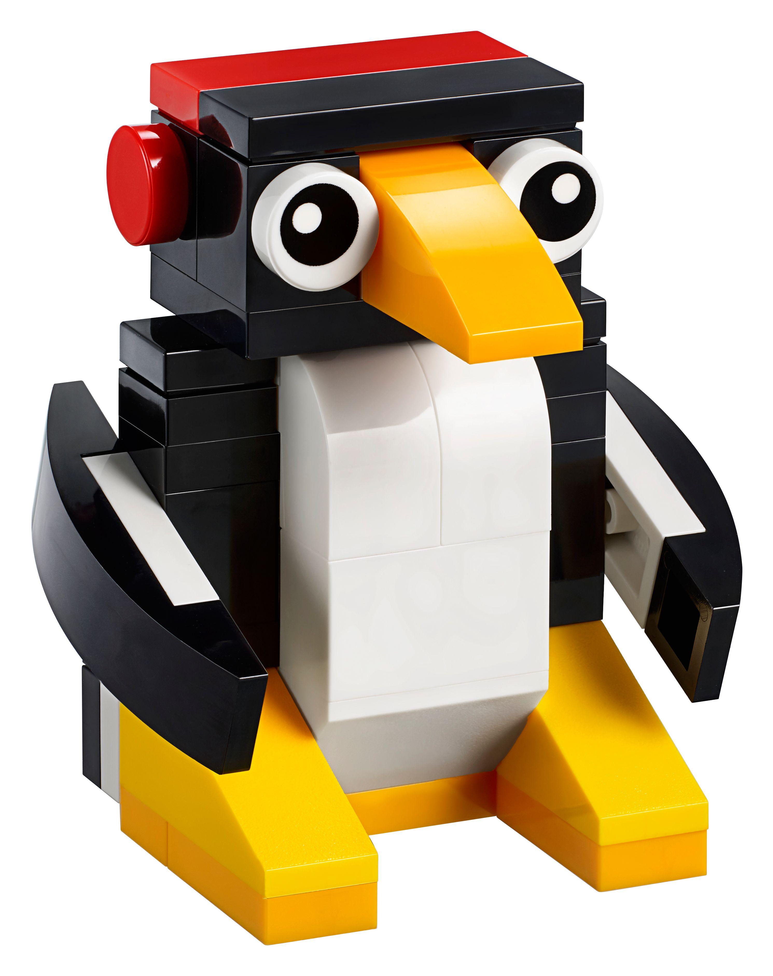 Gratis Lego Mini Modell Bautag - Pinguin