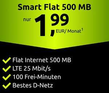 [Telekom-Netz] Crash Black Week: z.B. 500MB LTE + 100 Freiminuten für 1,99€ / Monat