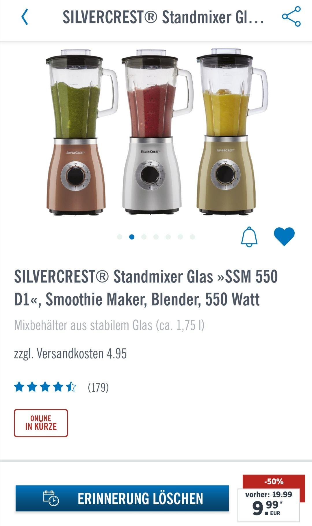 Standmixer der Marke SilverCrest