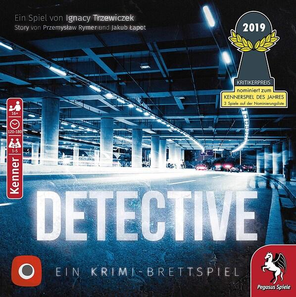 Krimi-Brettspiel Detective von Pegasus Spiele für 1-5 Spieler (nominiert für Kennerspiel des Jahres 2019)