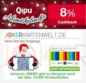 [Qipu] Adventskalender 7% auf Jokerkarten (z.B. Amazon.de, Zalando, Douglas, Tchibo, Musicload, myToys etc.)
