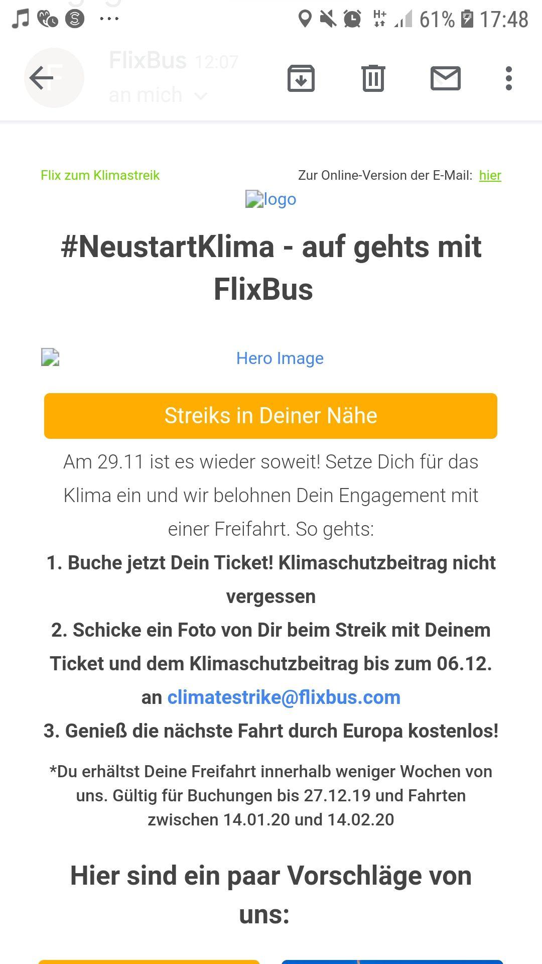 #NeustartKlima - auf gehts mit FlixBus
