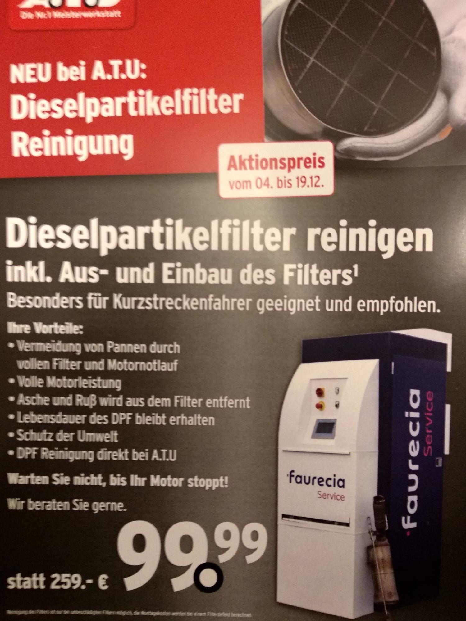 Dieselpartikelfilter Reinigung inkl. Ein- und Ausbau des Filters (Lokal Stuttgarter Raum)